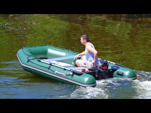 The 11 39 saturn extra wide inflatable fishing boat from for Blow up boat for fishing