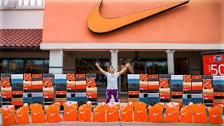 Buying EVERY Pair Of Shoes From Nike Outlet!