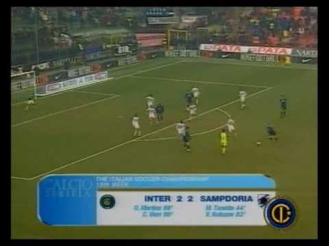 inter - sampdoria 3-2 rimonta incredibile