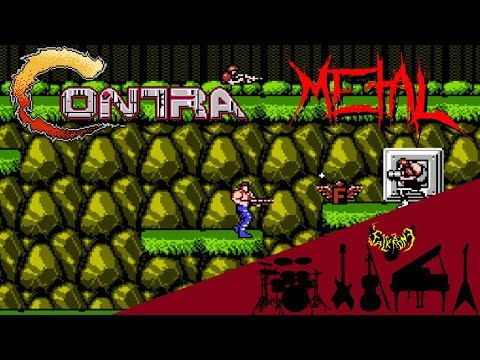 Contra (NES) - Fight of Jungle 【Intense Symphonic Metal Cover】