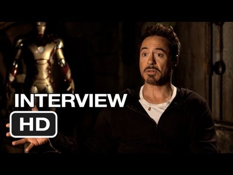 Iron Man 3 Interview - Robert Downey Jr. (2013) - Marvel Movie HD