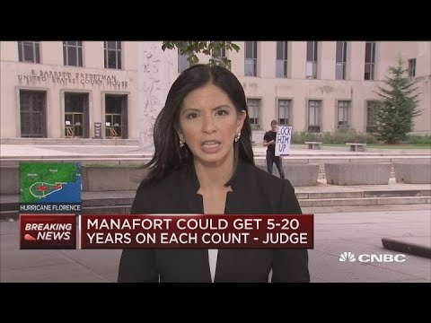 Paul Manafort could get up to 20 years in prison per count