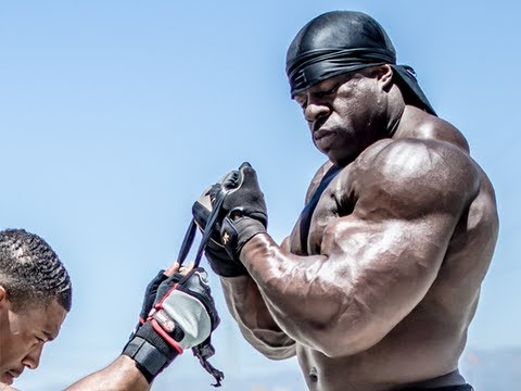 BICEPS - http://www.youtube.com/KaliMuscle - Many have been requesting for alternative strength training exercise for dumbbells and barbells. Kali demonstrates that a...