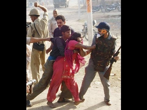 Police brutality: Aligarh SP knocks down woman as people protest rape and murder of 6-year-old
