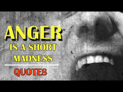 Short quotes - Anger is a short madness  Anger Quotes  Motivational Video