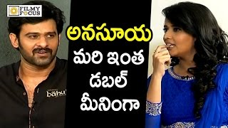 Video Prabhas Epic Punch to Anchor Anasuya Double Meaning Question : Rare Video - Filmyfocus.com MP3, 3GP, MP4, WEBM, AVI, FLV November 2017