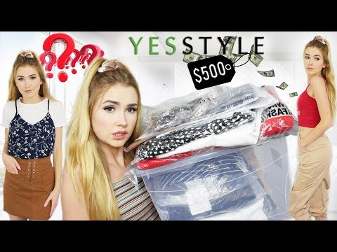 I SPENT $500 ON YESSTYLE | Is it Legit? This is what I got!!