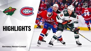 Wild @ Canadiens 10/17/19 Highlights by NHL