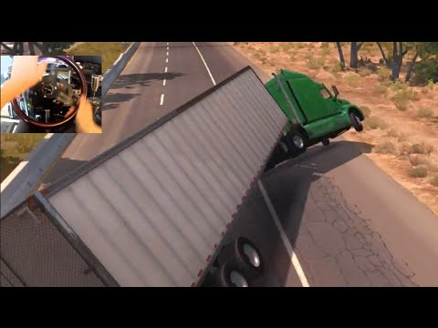 American Truck Simulator w/Wheel Rig + Ebrake MOD Horn - We Owe A lot...