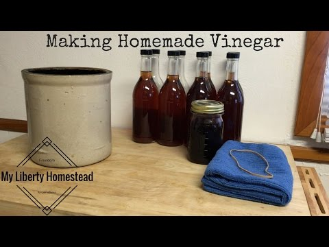 Making Homemade Vinegar From Wine Or Juice