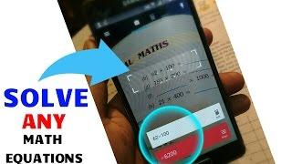 How To Solve Any Math Equation From Your Andriod MobileNamshkar dosto aj me phr ek video laya hu aapke liye aj hm bat krenge kaise aap apne android mobile se kisi v math equation ko solve kr sakte hai wo v apne phone ki camere ki help se....Subscribe aur channel for more videosNew video check this..Agr aapko mera ye video pasnd aaya to like Share subscribe krna na bhule.....Follow me on Facebook-https://goo.gl/gT1Ew6Follow me on Twitter-https://goo.gl/FdtGjxFollow me on Instagram-https://goo.gl/vjq15pLIKE ◆ SHARE ◆ SUBSCRIBE