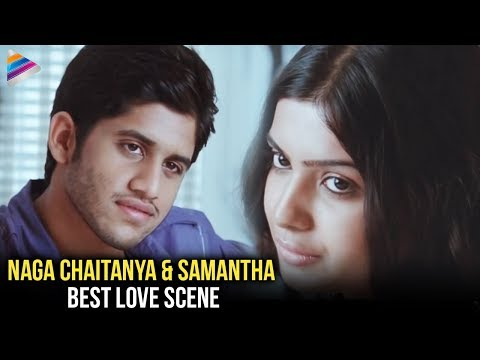 Samantha & Naga Chaitanya Love Scene | Ye Maya Chesave Movie Love Scenes | Telugu Filmnagar