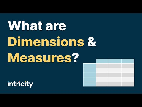 What are Dimensions and Measures?