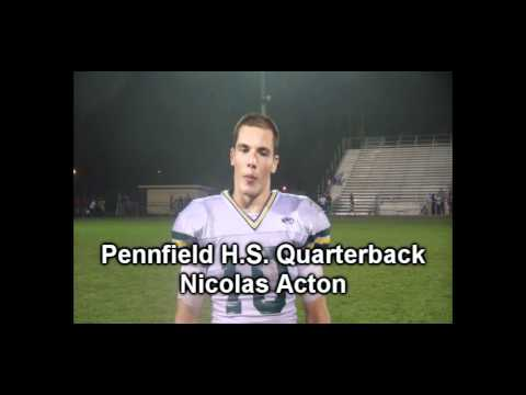 Pennfield Quarterback Nicolas Acton.