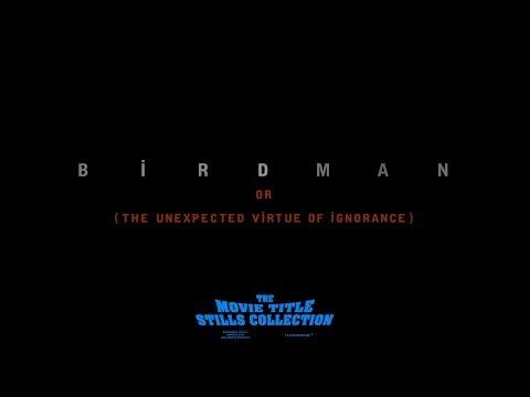 Birdman (2014) title sequence