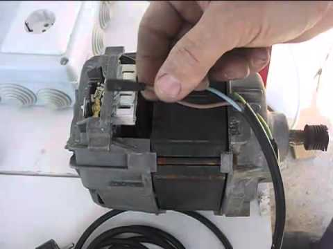 Cómo conectar un motor de lavadora con escobillas, Connect washing machine motor with brushes