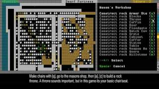 Dwarf Fortress Video Tutorial part 06 - Dining rooms and dealing with refuse