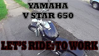 10. Yamaha V Star 650 - My Ride to work