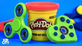 Hey Kids! Today we're making DIY Play-Doh Fidget Spinners. We'll show you how to make Fidget Spinner Toys for Kids out of Play-Doh! We'll also test out some ...