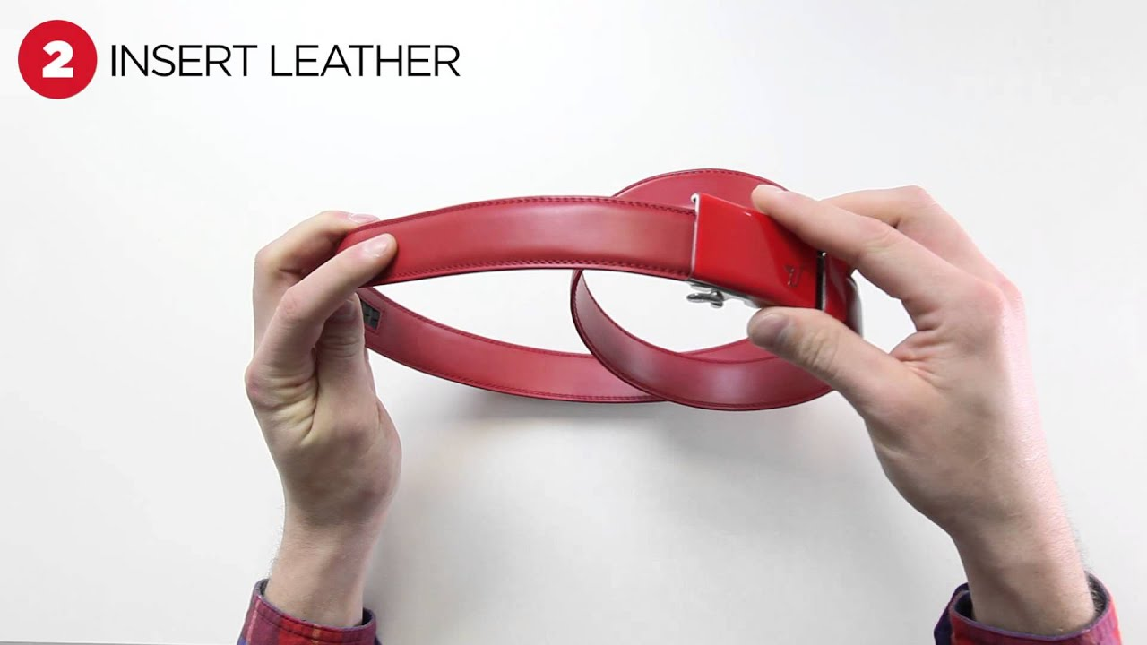 Ferrari Leather Belt // Red (Large // 36-38) video thumbnail