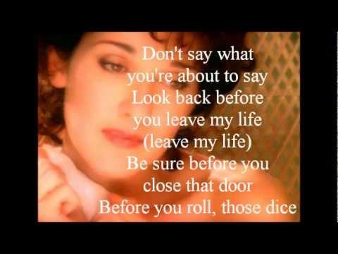 , title : 'Celine Dion - Think Twice (lyrics)'