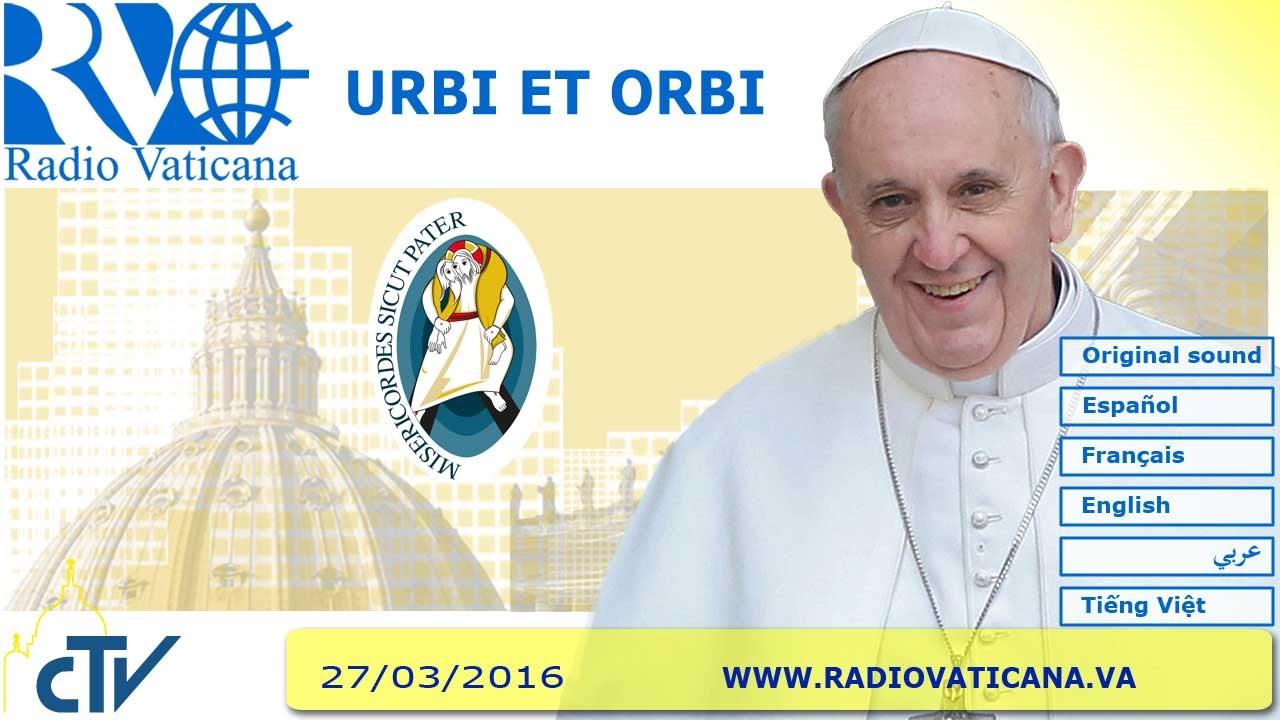 Mensaje Urbi et Orbi del Papa Francisco en la Pascua 2016