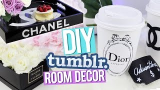 DIY Tumblr Room Decor ♥ Chanel Tray, Dior Piggy Bank & More! - YouTube
