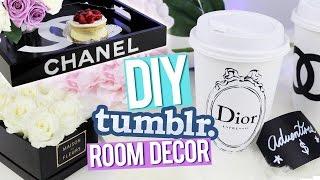 DIY Tumblr Room Decor ♥ Chanel Tray, Dior Piggy Bank & More! - YouTube