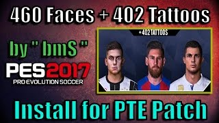 Download Lagu [PES 2017] 402 Tattoos + 600 Faces Ultra Pack (by bmS) | Download and Install for PTE Patch Mp3