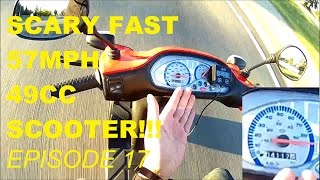 6. 49CC SCOOTER BREAKS 93KM/H!!(FASTER SCOOTER EPISODE 17)