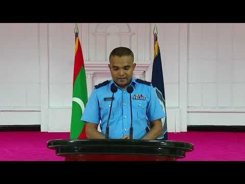 Tuesday , Seprember 11 , 2018 : Maldives Police Service in beyvvi press conference