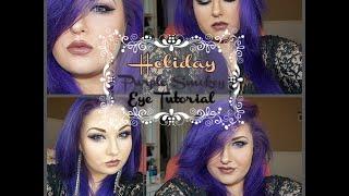 +Holiday Purple Smokey Eye Tutorial+ - YouTube