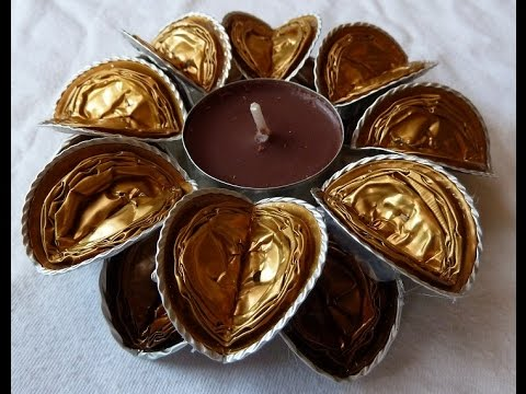 tutorial natalizi - porta candela scintillanti