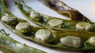 Grilled Fava Beans - How to Grill Fava Beans - Fava Beans on the Half Shell by Food Wishes