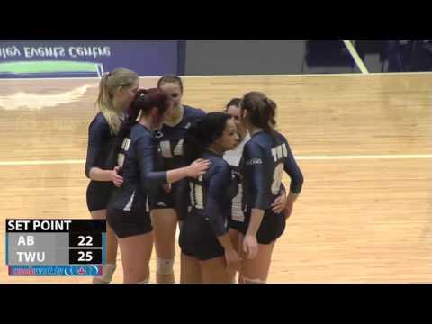 2016-01-09 TWU Women's Volleyball Highlights vs Alberta