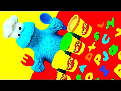Alphabet Learning ABCs – Words with Play Doh Cookie Monster Letter Lunch Toy Playset Thomas