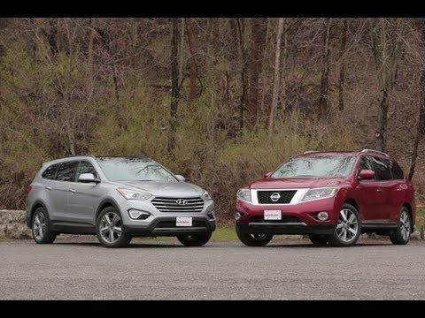 2013 Nissan Pathfinder vs 2013 Hyundai Santa Fe