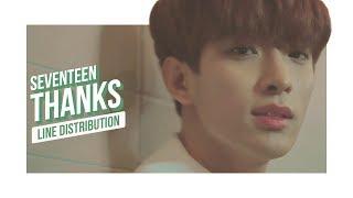 SEVENTEEN - THANKS Line Distribution (Color Coded) | 세븐틴 - 고맙다
