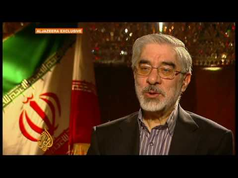 Iran elections: Mousavi speaks to Al Jazeera - 11 Jun 09 (видео)