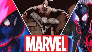 Spider-Man(Miles Morales) Evolution in Cartoons and Games (2018) Spider-Man Into the Spider-Verse
