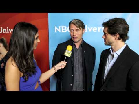 NBC TV - AfterBuzz TV Host Cathy Kelley interviews Hugh Dancy and Mads Mikkelsen from NBC's Hannibal. Follow Cathy at http://www.twitter.com/catherinekelley Shot by: ...
