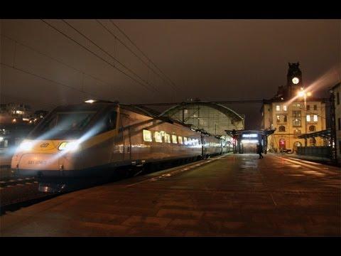 Pendolino Czech Railways leaving Prague (2013)