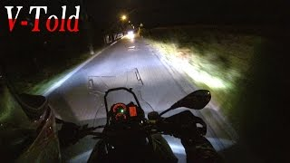 9. BMW F 800 GS Adventure additional OEM Lights test