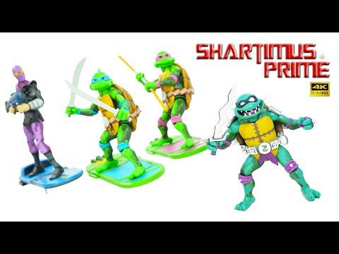 NECA TMNT Turtles In Time Wave 1 Slash, Leonardo, Donatello Foot Soldier Video Game 4K Figure Review