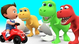 Cartoon Dinosaurs T Rex 3D Baby Fun Learning Colors for Children with Dinosaurs Kids Toddler Edu