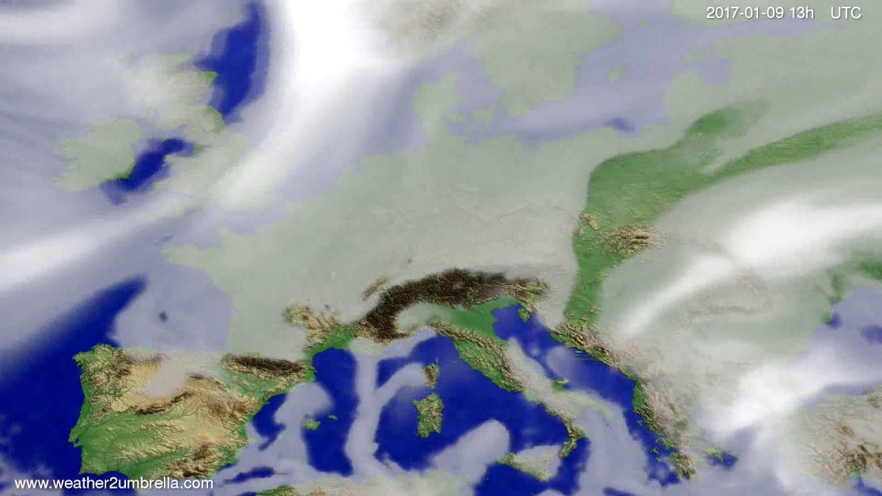 Cloud forecast Europe 2017-01-06