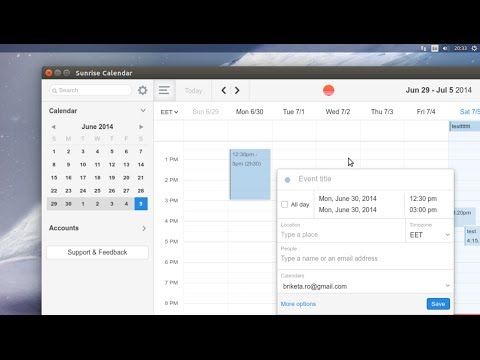 how to sync ubuntu calendar with google