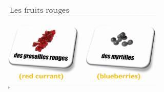 Apprenez L'anglais - Vocabulaire- Unité 4 - Les Fruits Rouges