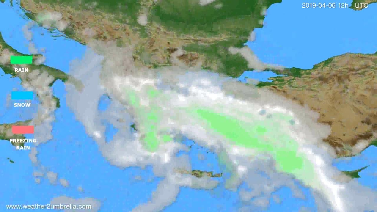Precipitation forecast Greece // modelrun: 00h UTC 2019-04-05