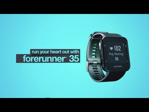 Garmin Forerunner 35 aktivitásmérő sportóra, világos lime zöld